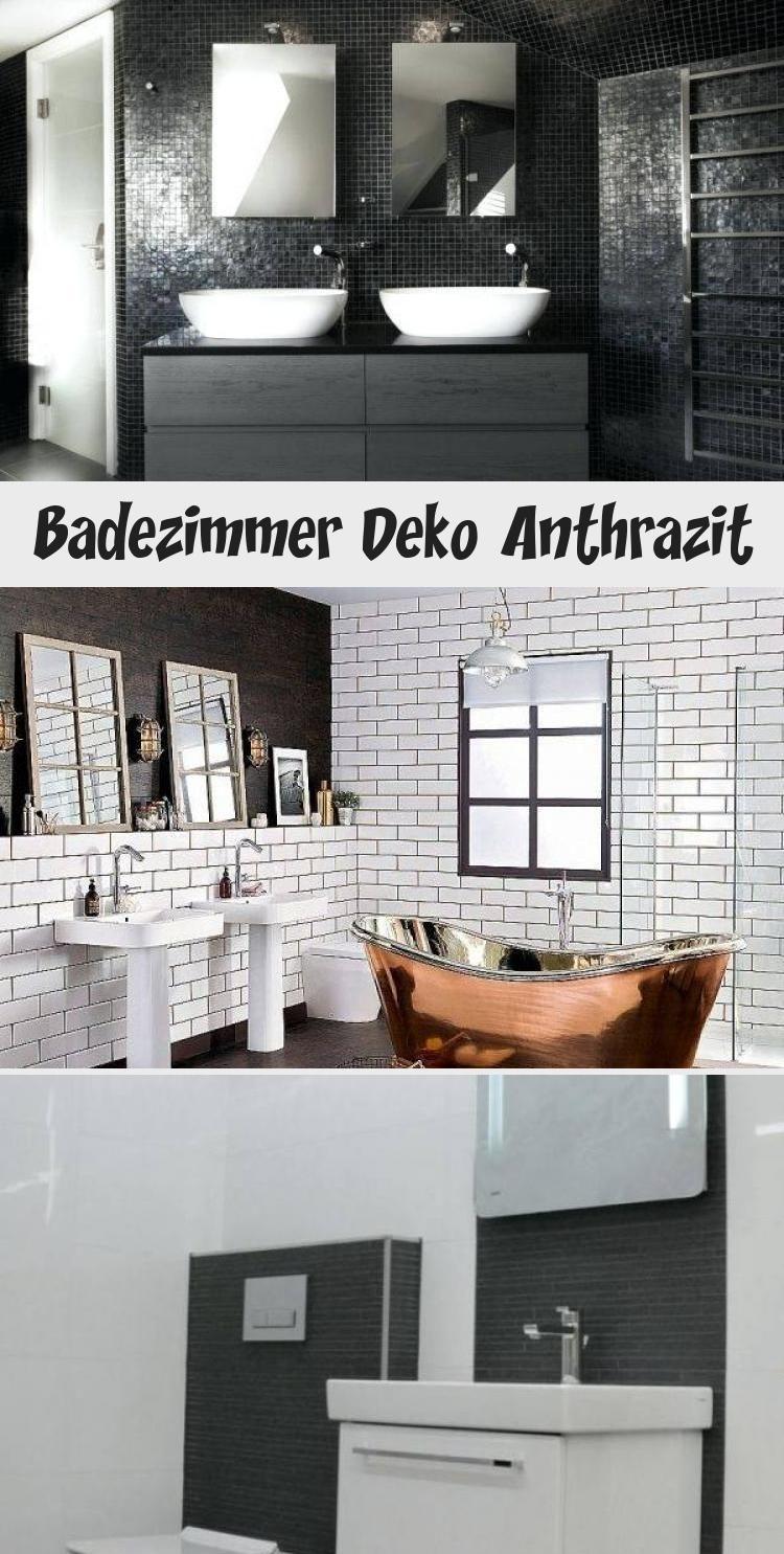 Badezimmer Deko Anthrazit In 2020 Bathroom Mirror Round Mirror