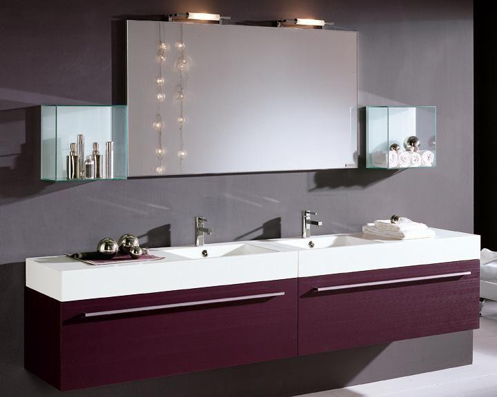 Armadietto Bagno ~ Arredo bagno doppio lavabo in cristallo da cm vari colori