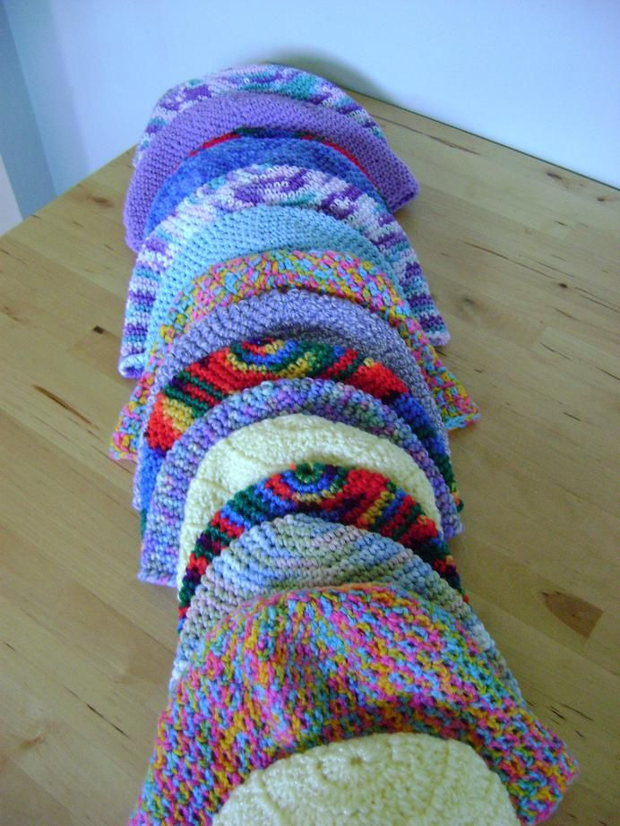 Chemo hats for women and children - free Bernat pattern - available ...