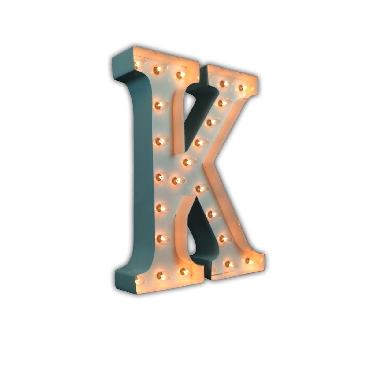 24 Letter K Lighted Marquee Letters White Gloss Vintage Marquee Lights Lighted Marquee Letters Vintage Marquee