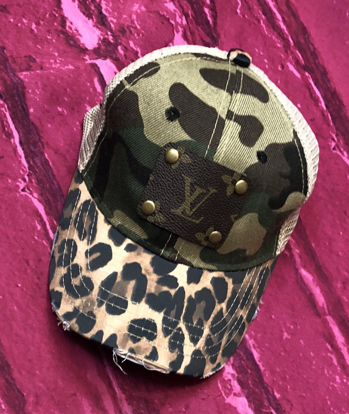 422419d686b58 Louis Vuitton Upcycled Camouflage Hat