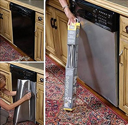Easy Way To Change The Dishwasher Front Door A Thrifty Mom Recipes Crafts Diy And More Stainless Steel Furniture Stainless Dishwasher Appliances Kitchen Stainless Steel