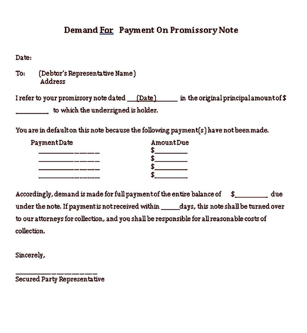 Sample Demand Note Templates