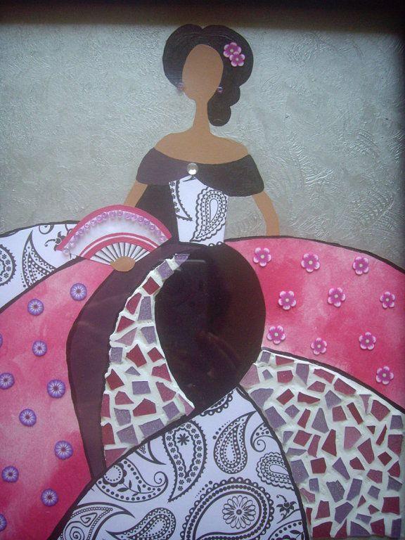 Tecnicas decorativas mixtas buscar con google mujeres - Ideas para pintar cuadros ...
