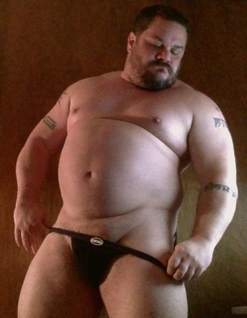 Fat mature with a boy