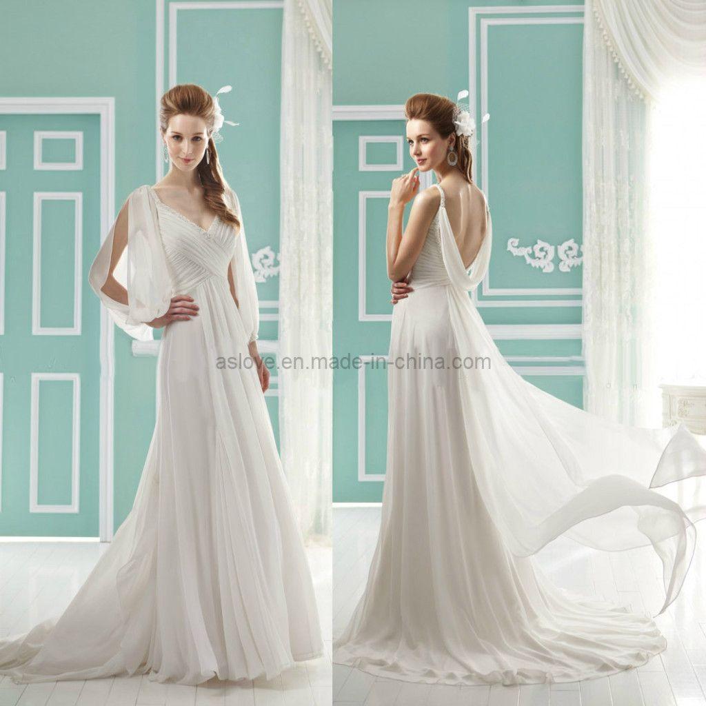 long sleeve sheath wedding dressbridal --- i just don\'t want to show ...