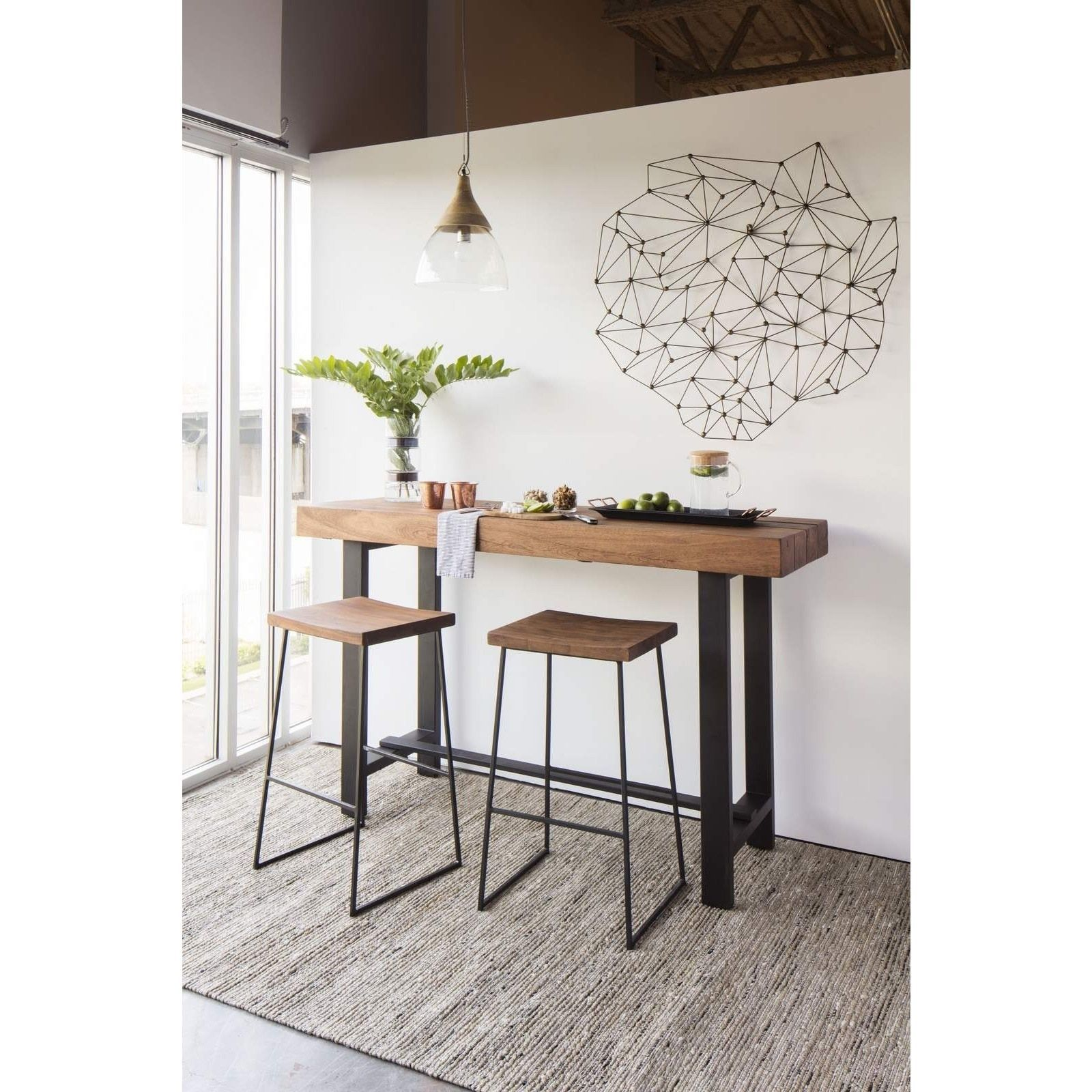 Aurelle Home Commercial Grade Rustic Bar Stools | High Dining Tables ...
