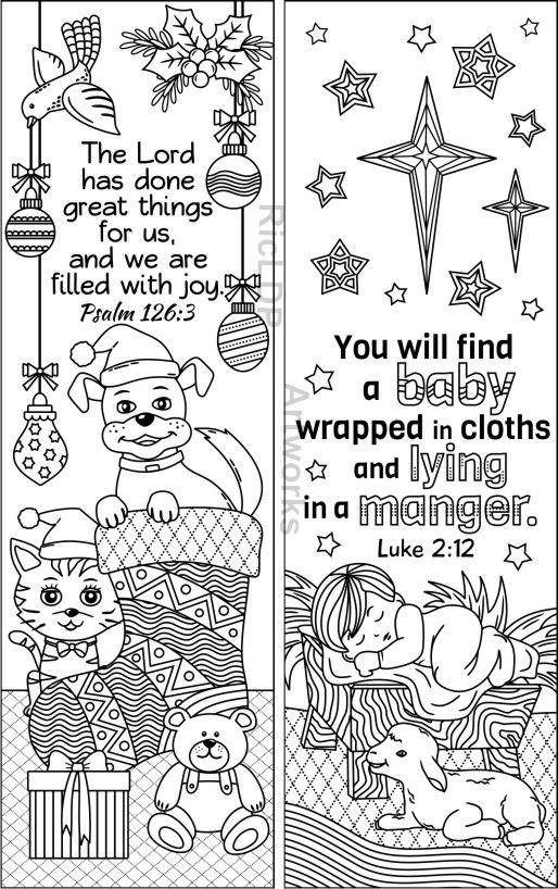 8 designs christmas coloring bookmarks christmas coloring pattern board shop paper size