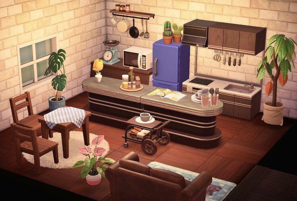 "Animal Crossing New Horizons on Instagram: ""Kitchen design ... on Animal Crossing Kitchen Island  id=72888"