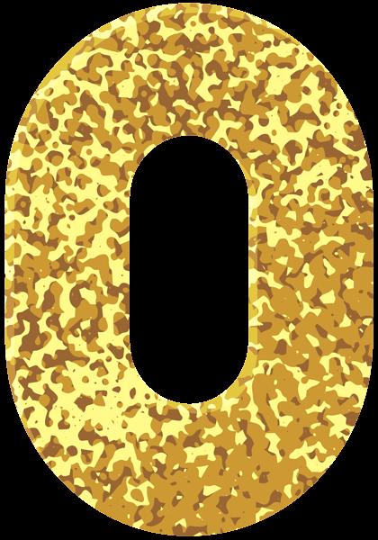 Gold Style Number Zero Transparent PNG Image | Золото, Номера