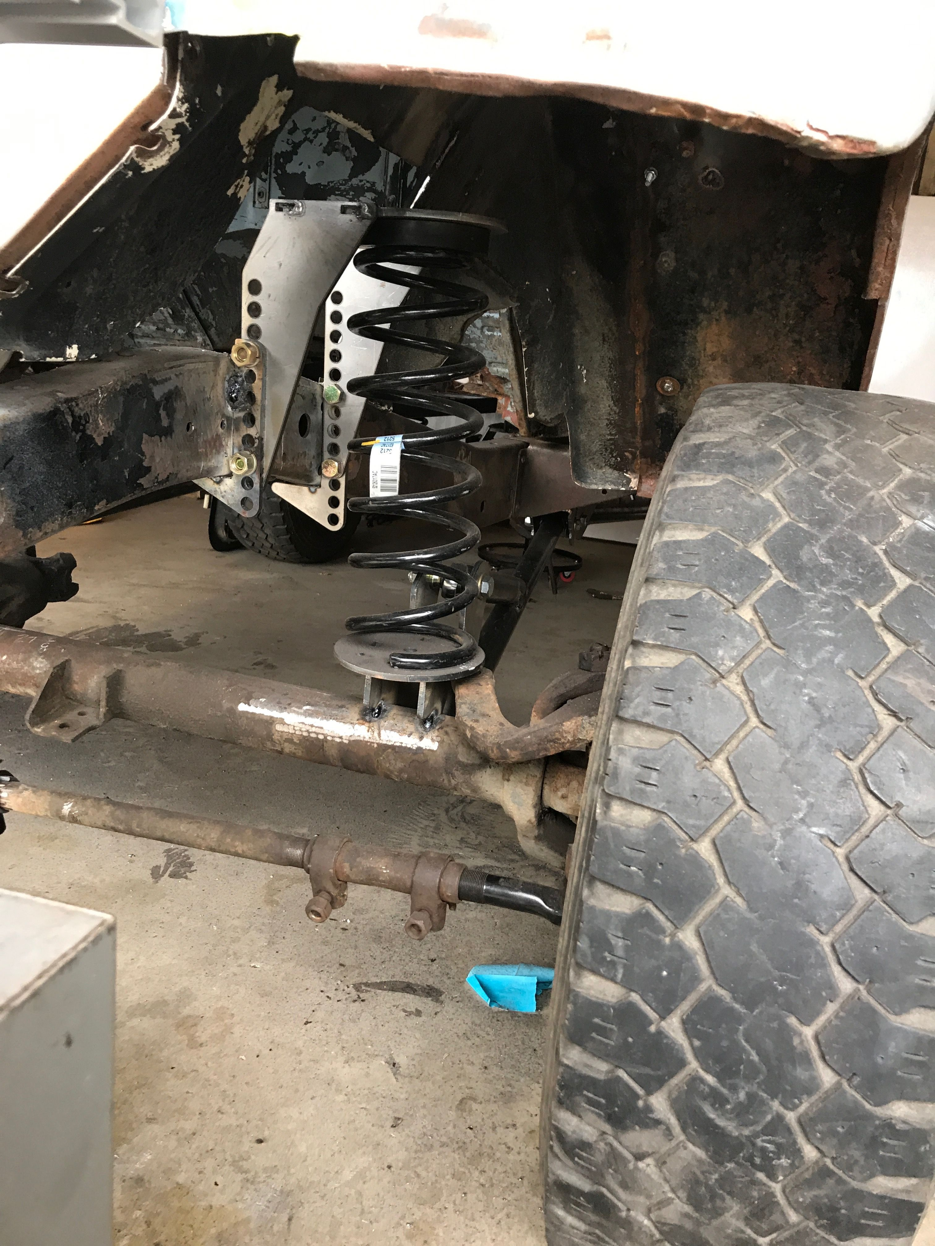 fj40 coil spring conversion with a long arm 3link kit