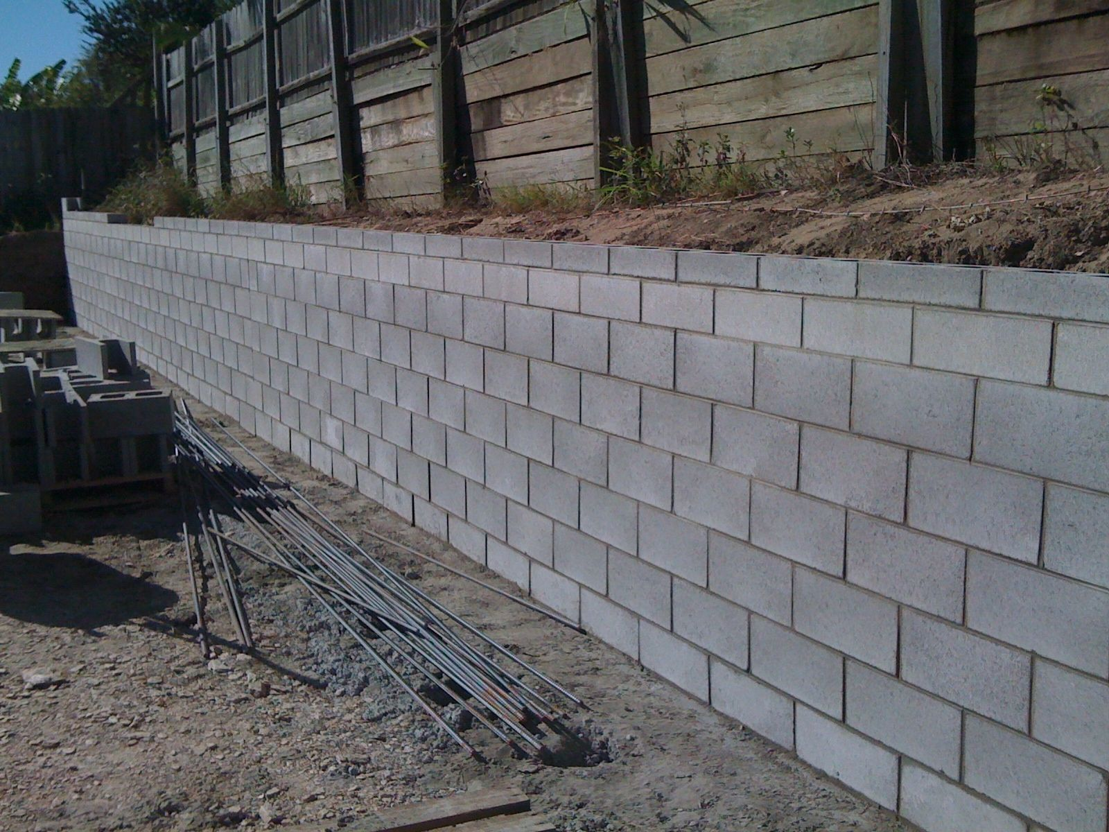 Large Concrete Block Retaining Wall Design