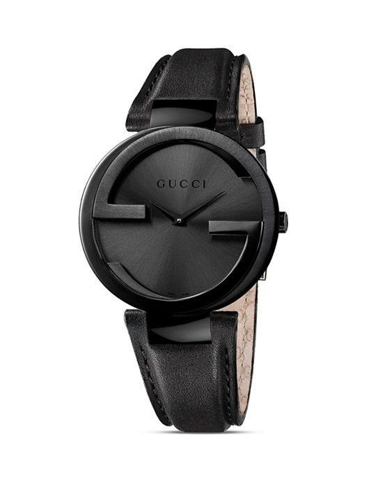 Gucci Interlocking Collection Black Pvd Case Saat 29mm Tumuyle Siyah Erkek Kol Saatleri Gucci