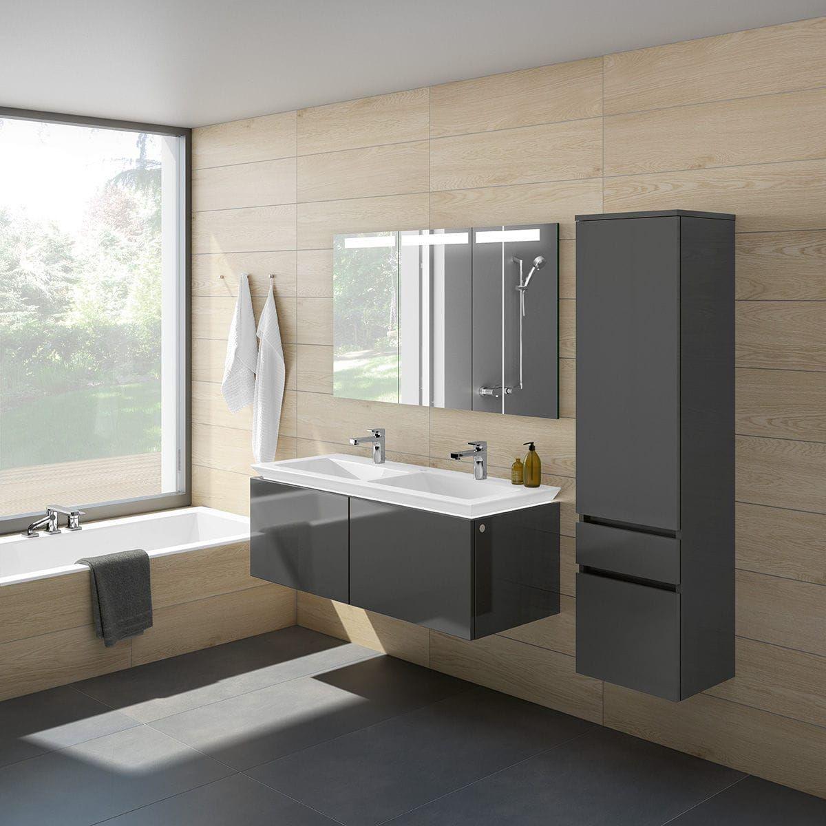 Contemporary Bathroom In Wood Legato Villeroy Boch