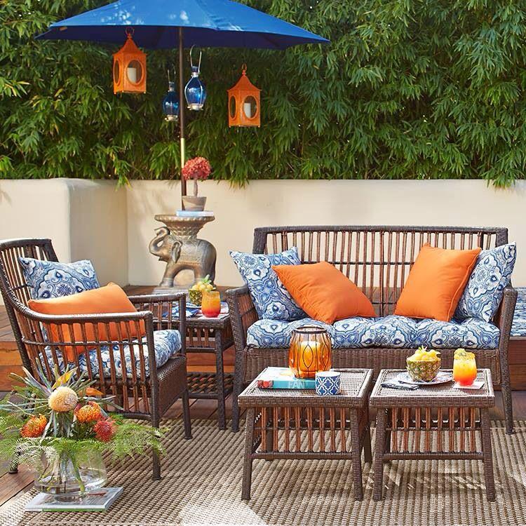 blue outdoor decor outdoor furniture