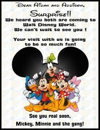surprise going to disney world letter Google Search Disney