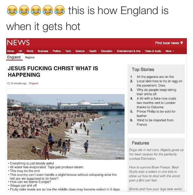 England has actually lost its chill