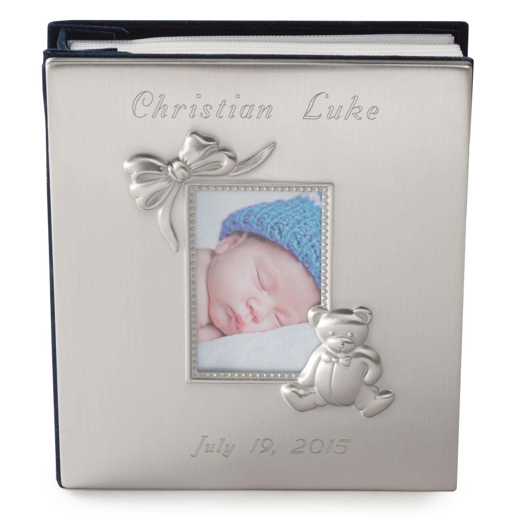 silver baby photo album
