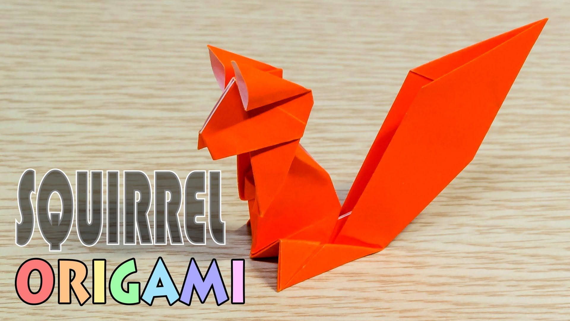 origami squirrel simple and easy paper chipmunk boxes