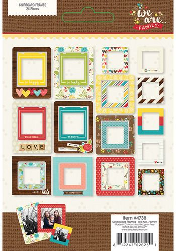 Simple Stories ~ WE ARE...FAMILY ~ Chipboard Frames