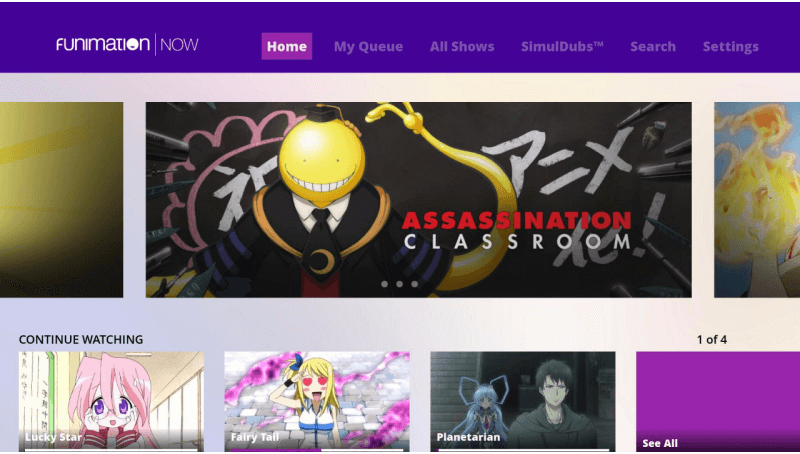 Funimation Roku app will not allow streaming of TVMA