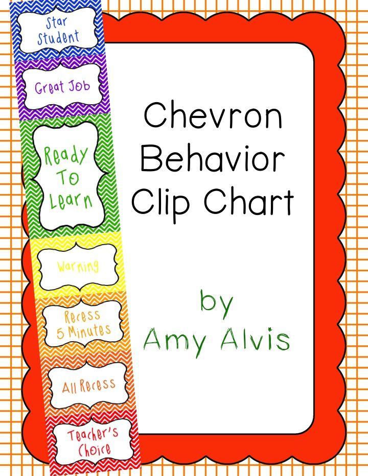Behavior Clip Chart Behavior Management Chevron 5 Behavior