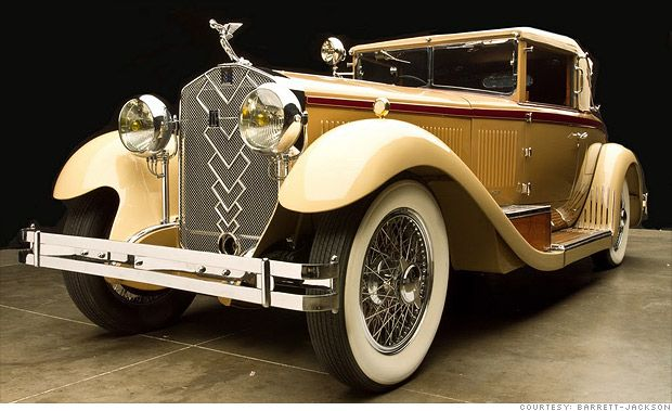 1930 Isotta Fraschini Tipo 8A Roadster  This cabriolet model was first shown at the Commodore Hotel in New York City and created such a sensation that ten more, all nicknamed Commodore, were built. This one, with its body by Castagna of Milan, was the original.  -CNN
