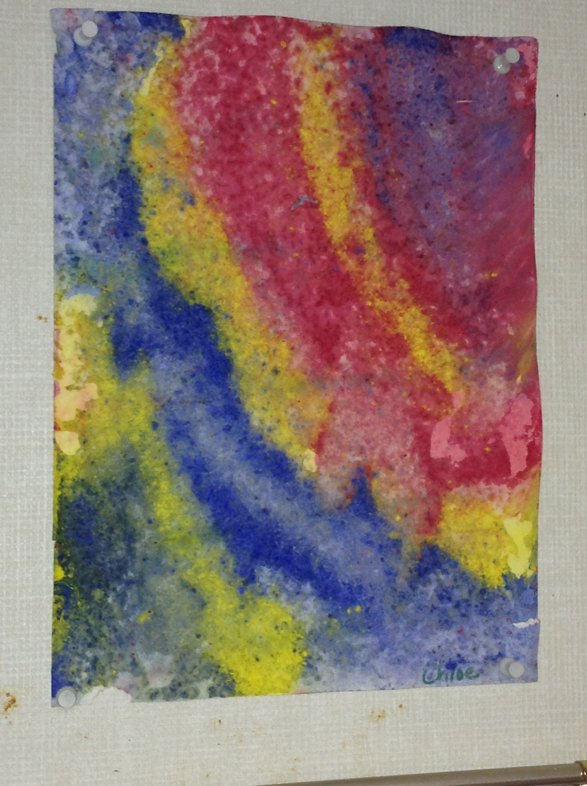 Rain Painting Let The Kids Spoon Powder Tempera On Paper And Then
