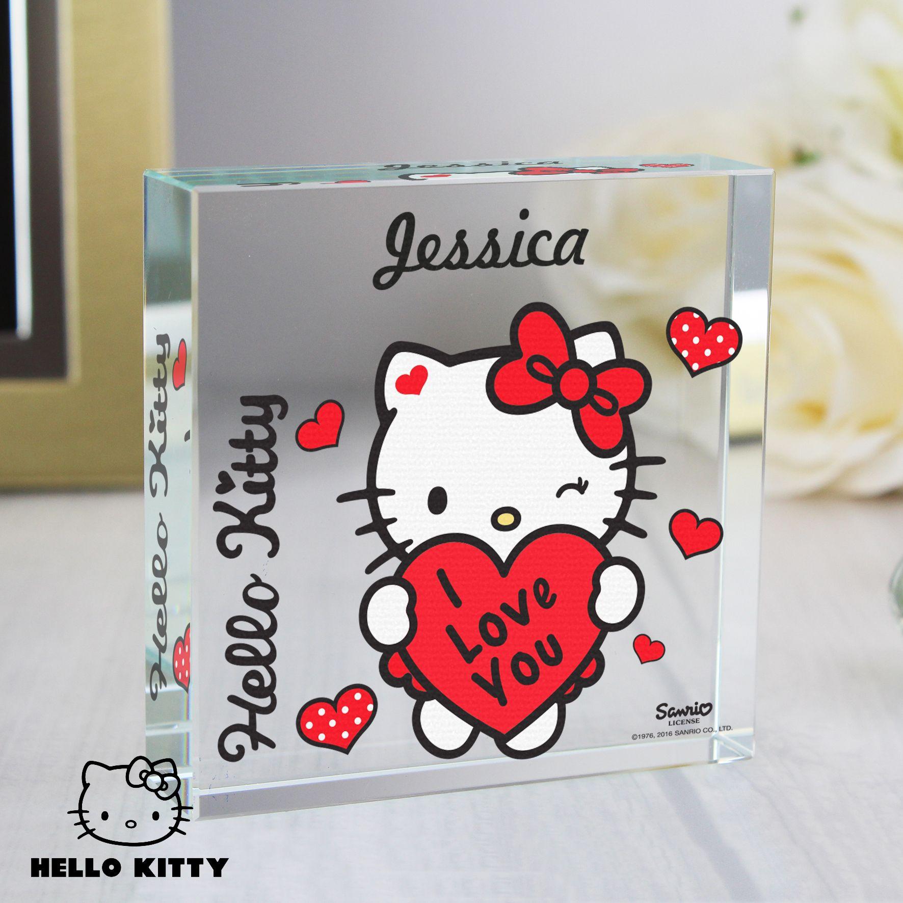 Hello kitty i love you large crystal token hello kitty