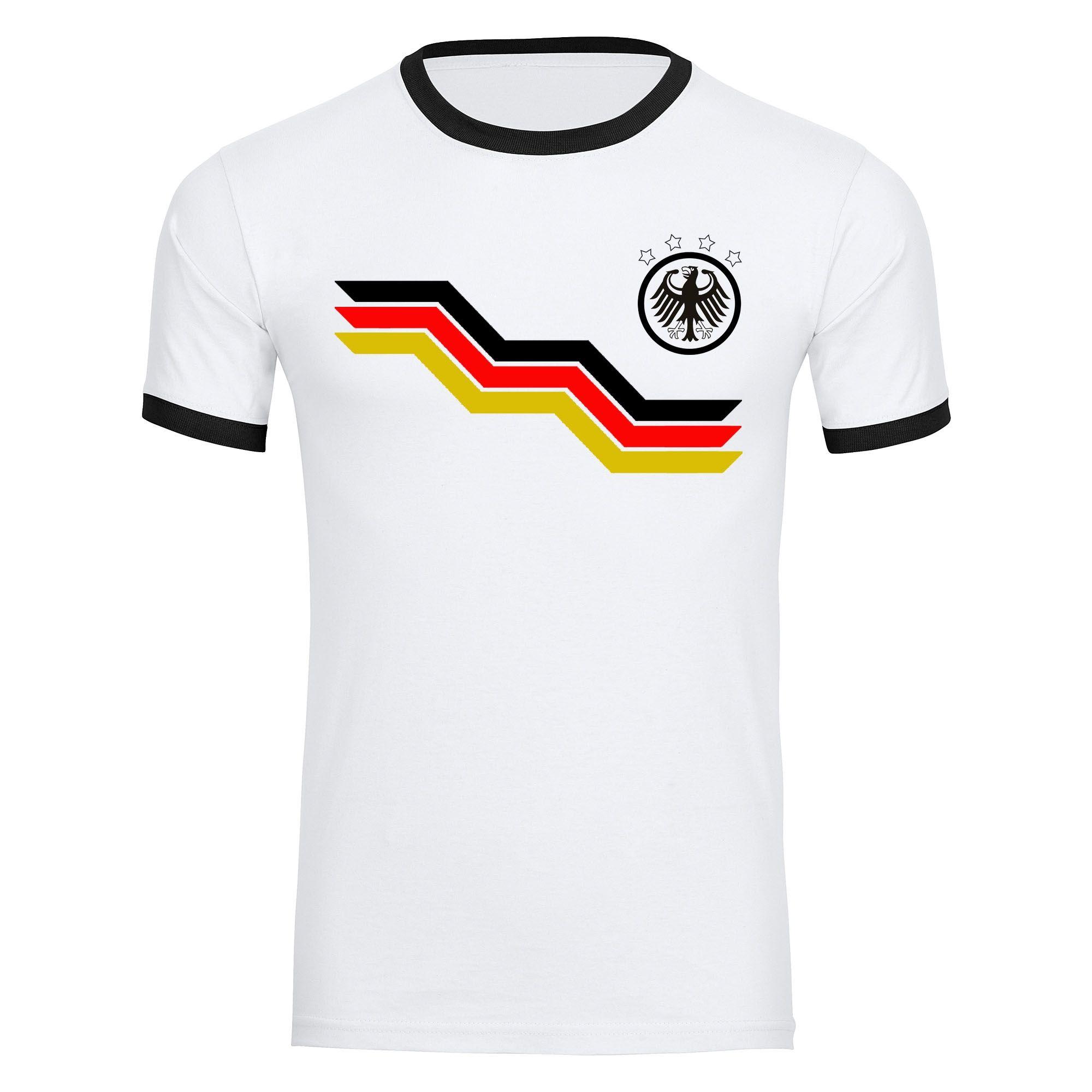 T Shirt Deutschland Adler Trikot Bunte Balkentreppe Herren Weiss Gr S 2xl Deutschland Shirt Weltmeister Russland T Shirt Deutschland Shirts Trikot
