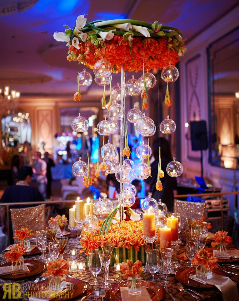 The wedding centerpiece designed by Tantawan Bloom NY