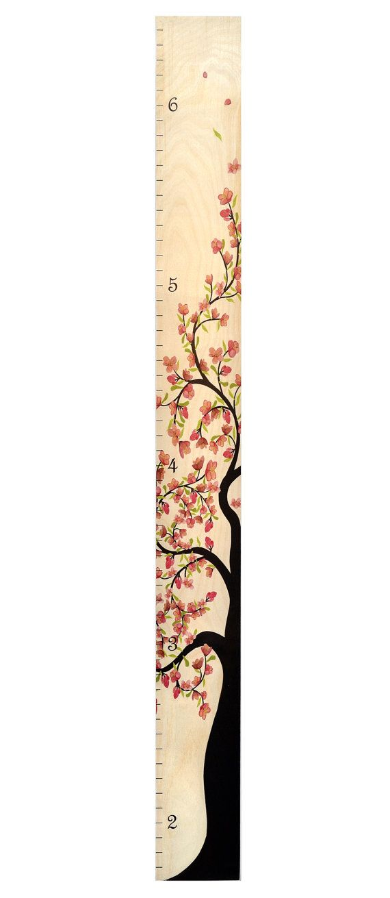 Tree of Life Wooden Ruler Growth Chart   Kids by GrowthChartArt - girls growth chart template