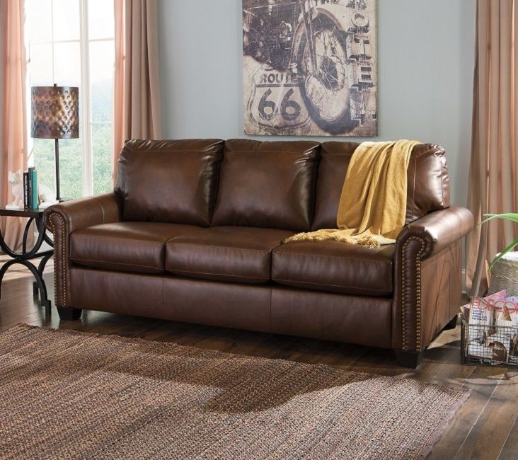 39 Sofa Sleepers DuraBlend leather shown in queen chocolate