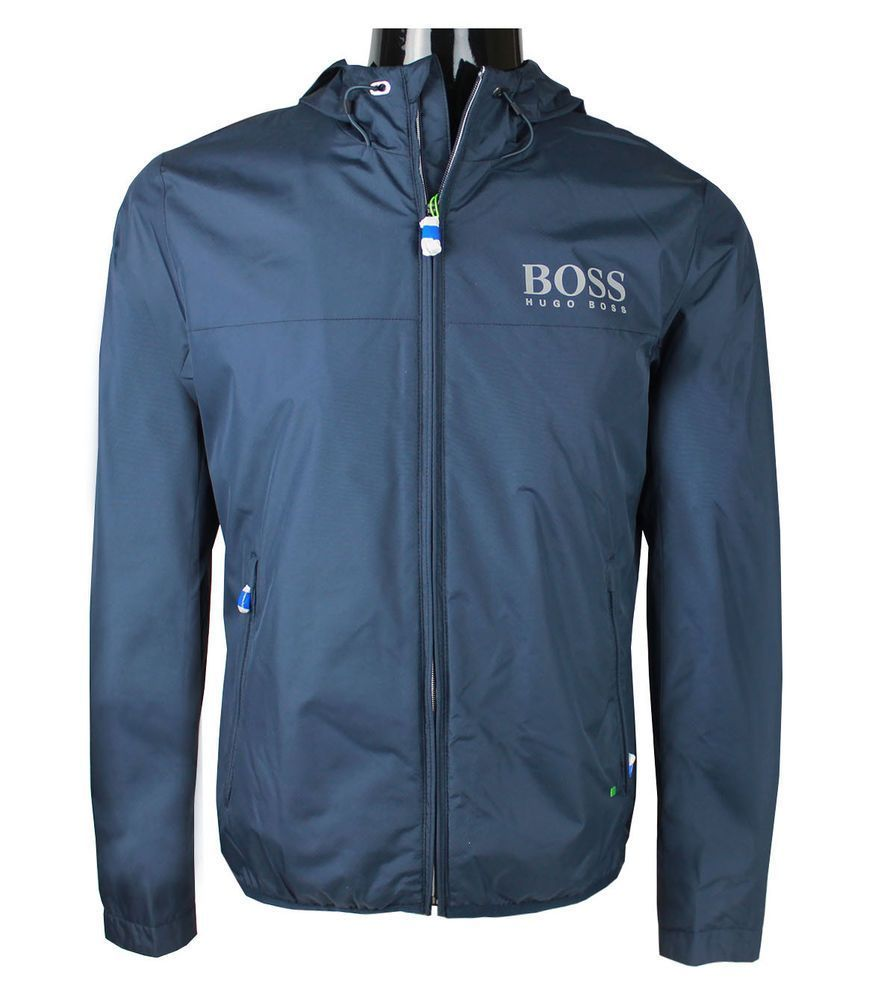 ac2c83c11 Hugo Boss Men's Golf Jacket Jeltech Hoodie Navy Blue s,m,l,xl,2xl ...