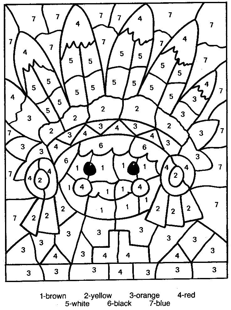 coloring pages color by number # 14
