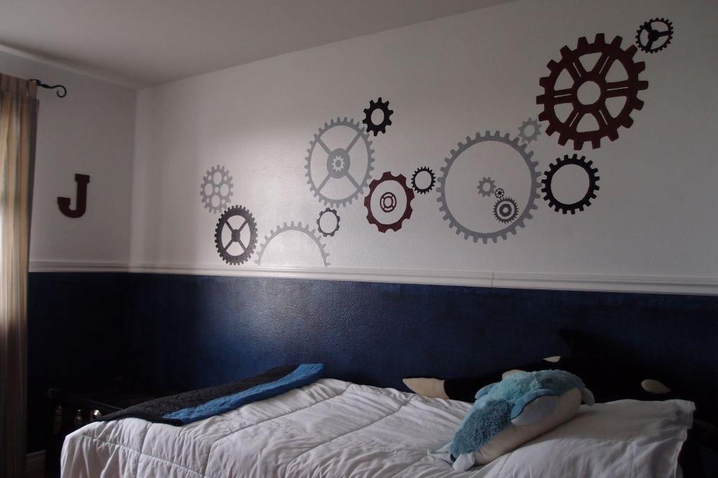Totally Kids Totally Bedrooms: Dark Gray Bottom, Add White Chair Rail, Light Gray On Top
