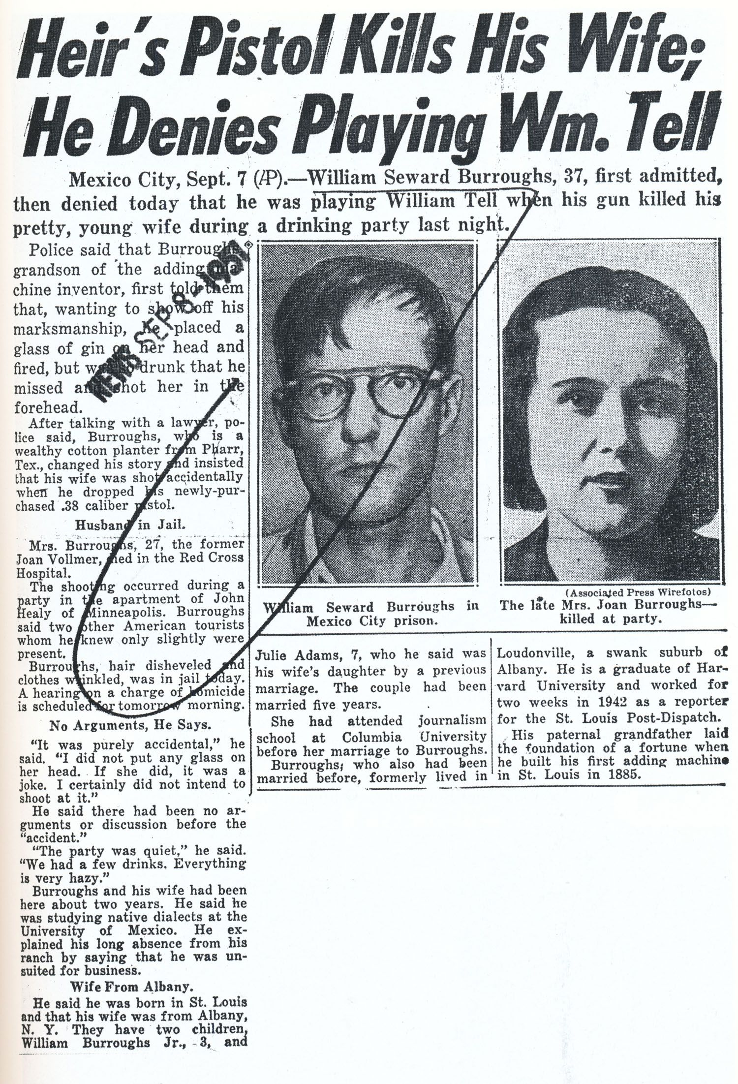 William & Joan Burroughs (Old Bull Lee and Jane Lee). Check out Brigette's review of Jack Kerouac's On The Road here: http://chaptersandscenes.wordpress.com/2014/03/17/brigette-reviews-on-the-road/