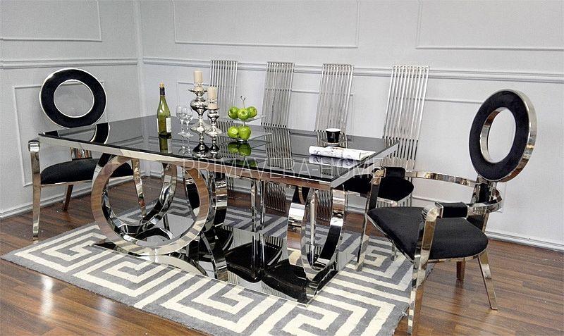 Stol Do Jadalni Stal Szklany Nowoczesny Styl Glamour Czarne Picasso Home Decor Home Furniture