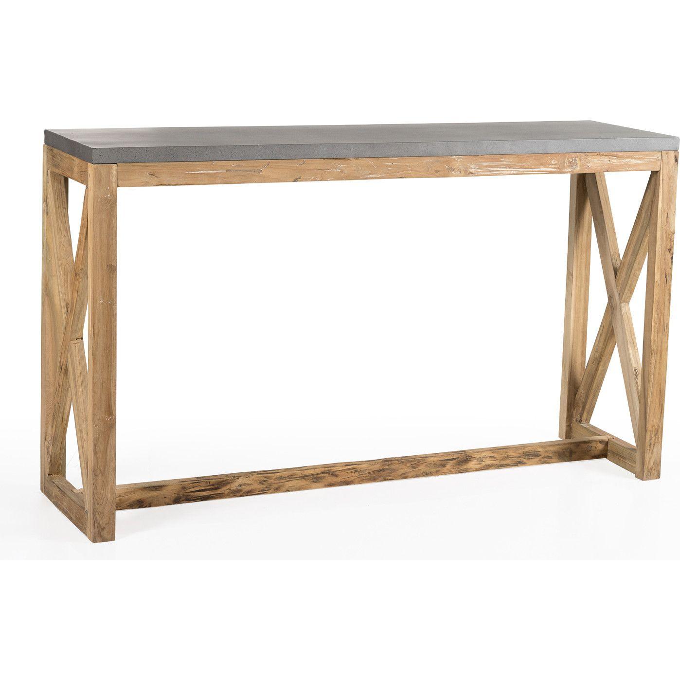 Surprising Padmas Plantation Valencia Console Table Metal Recycled Inzonedesignstudio Interior Chair Design Inzonedesignstudiocom