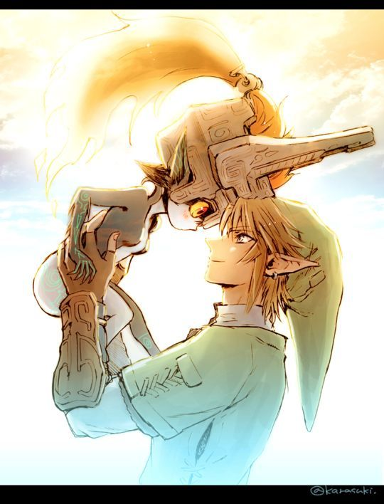 Click Through To See The Rest Midna And Link Legend Of Zelda Twilight Princess Fan Art By Karas Legend Of Zelda Midna Legend Of Zelda Twilight Princess