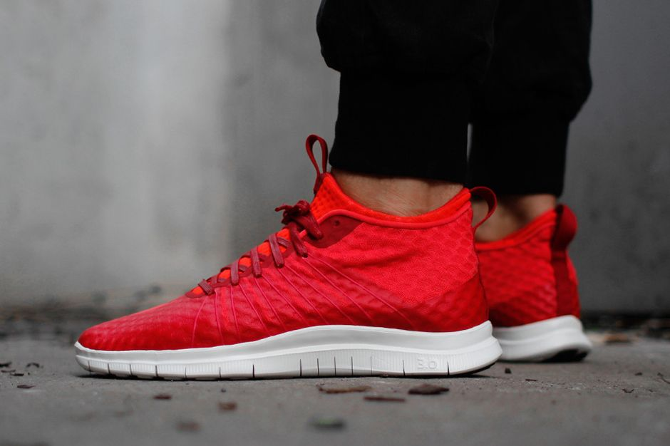 nike free hypervenom low red cells
