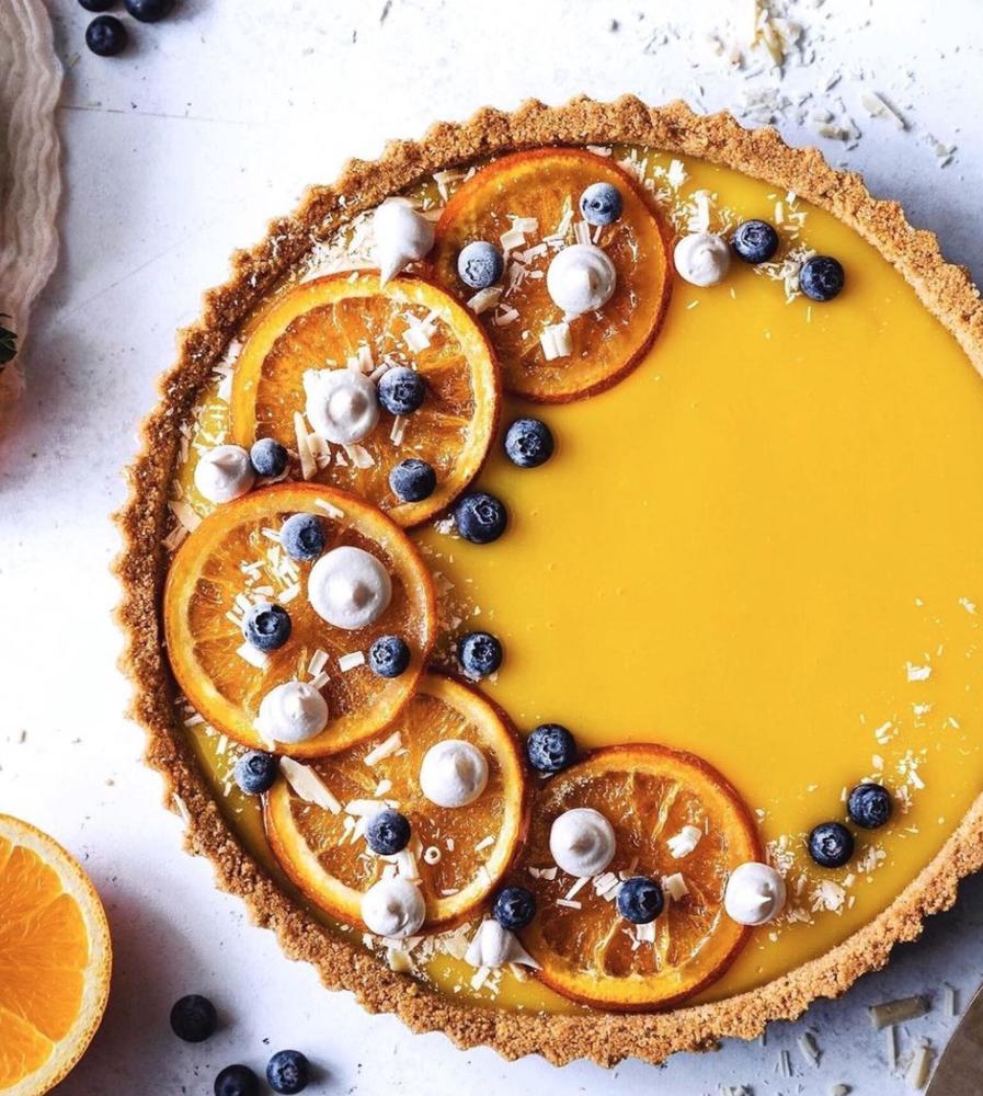 White Chocolate Orange Curd Tart by devamadeo | Qu