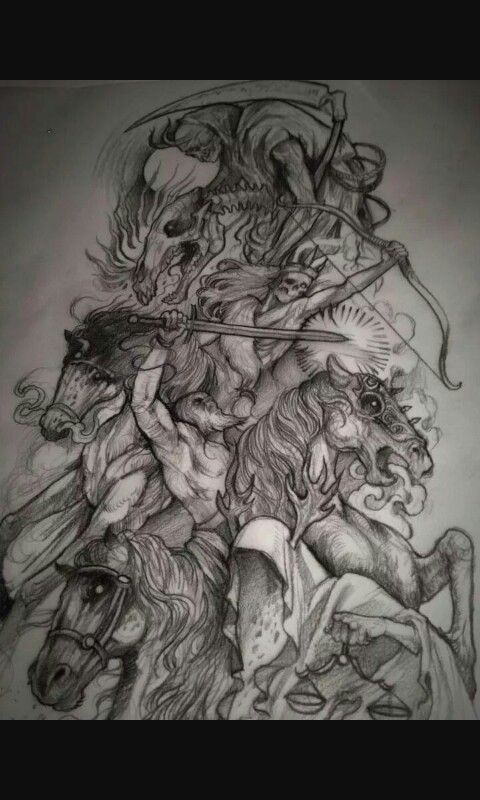 4 Horsemen Tattoo : horsemen, tattoo, Horseman, Horsemen, Apocalypse, Tattoo,, Warrior, Tattoos