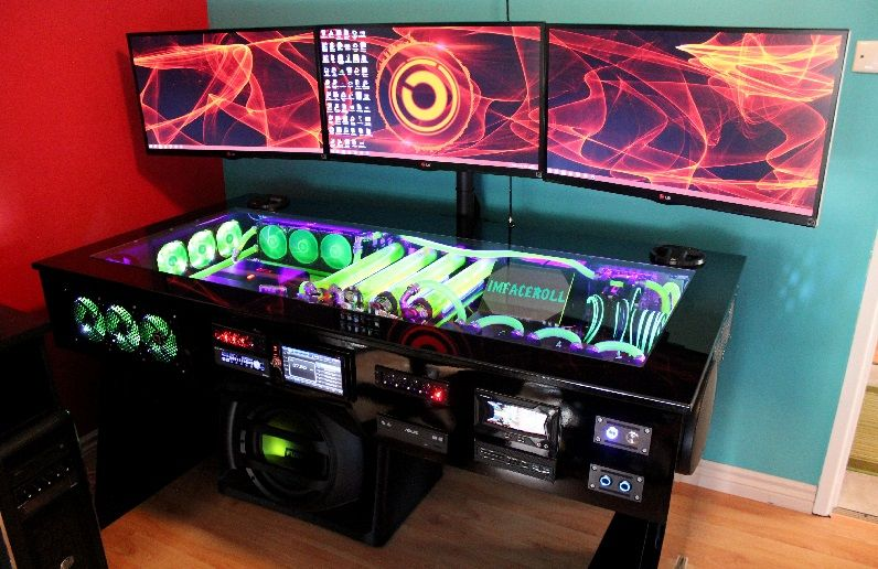 Watercooled Pc Desk Mod With Built In Car Audio System Evga Forums