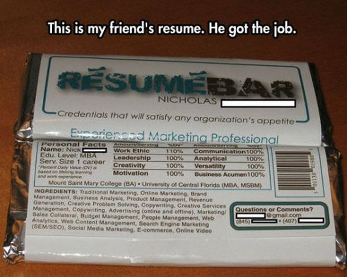 Pretty clever College Pinterest Funny stuff, Stuffing - funny resume