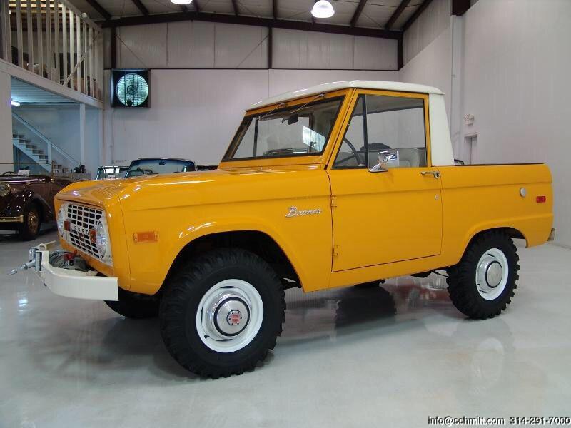 Ford Chrome Yellow Ford Bronco Classic Bronco Bronco