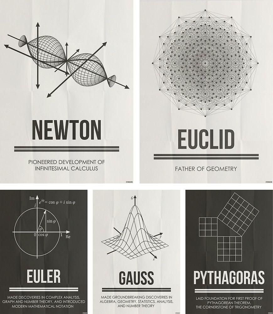Mathematicians Mosiac by Hydrogene Научное искусство
