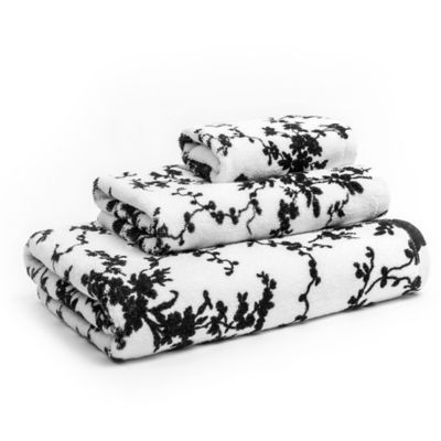 Calvin Klein Marcel Bath Towel White Towels Black And White