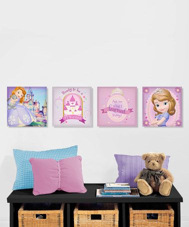 love this sofia the first canvas wall art set on zulily rh pinterest com