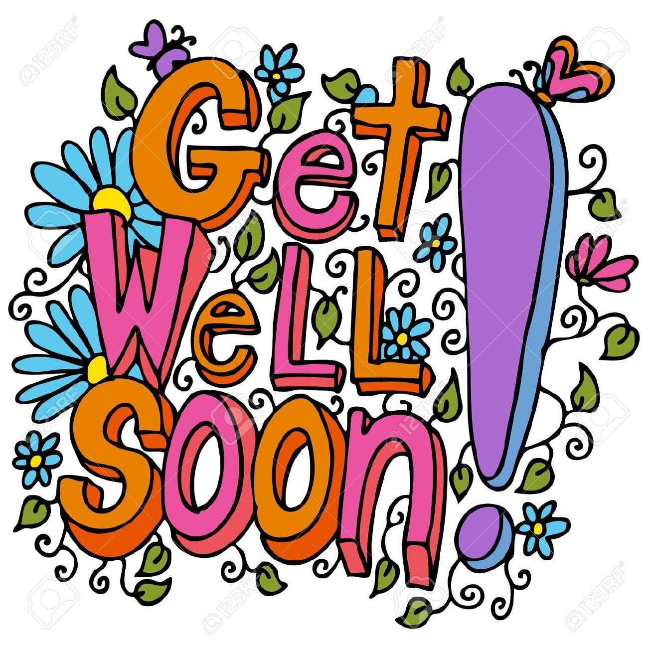 An image of a get well soon floral design drawing royalty free an image of a get well soon floral design drawing royalty free kristyandbryce Gallery